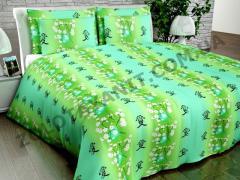 Ткань Поликоттон для постельного белья Naz-122-Green