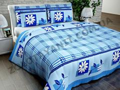 Ткань Поликоттон для постельного белья Scr-10786-Blue