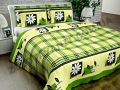 Ткань Поликоттон для постельного белья Scr-10786-Green