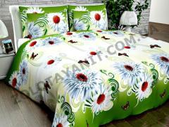 Ткань Поликоттон для постельного белья Uxt-412-green