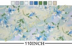 Ткань Тик наперниковый,  100% хлопка 120-Blue