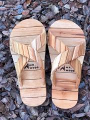 Wooden slippers for sauna and baths Mr. Wood 36