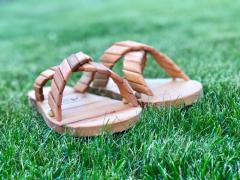 Wooden slippers for sauna and baths Mr. Wood 38