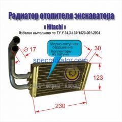 Радиатор отопителя экскаватора Hitachi