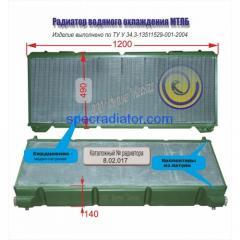 Радиатор водяной вездехода гусеничного МТ-ЛБ