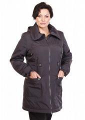 Down-padded coat Female big sizes