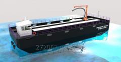 Баржа самоходная, маломерная с низкой осадкой. 250 метрических тонн. Для перевозки зерновых культур по малым рекам.
