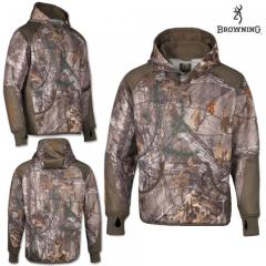 Толстовка для охоты Browning Hell's Canyon Performance Fleece Hoodie Realtree Xtra
