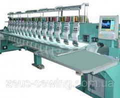 """Промышленная 10-головочная вышивальная машина для """"плоской"""" вышивки VELLES VE 1210"""