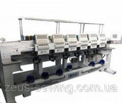 Промышленная 6-ти головочная 15-ти цветная вышивальная машина VELLES VE 1506H-W