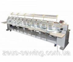 """Промышленная 12-ти головочная 15-ти цветная вышивальная машина для """"плоской"""" вышивки VELLES VE 1512H-W"""