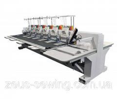 Промышленная 4-х головочная машина для плоской