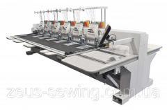 Промышленная 10-ти головочная машина для плоской