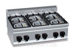 Gas cooker 6 GHB963P GGM-TI 28.5 kW burner...