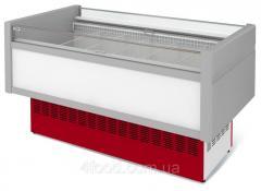 Витрина холодильная низкотемпературная островная ВХНо 2,4 Купец боковины АБС с надстроикой.