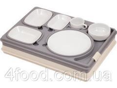Термоподнос с замком и набором посуды6 предметов