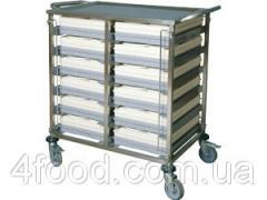 Тележка передвижная для подносов 6+6 пар направляющих Termobox Trolley 12