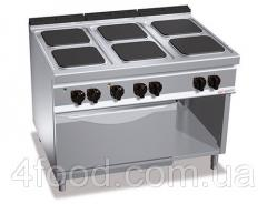 Электрическая плита GGMEHB199H+EB4U 6 квадратных конфорок 21 кВт + печь конвекционная электрическая 3,5 кВт