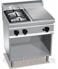 Газовая плита GGM GHGB879H+GB4 + жарочная поверхность с 4-мя горелками 17,5 кВт + духовой шкаф 4 кВт