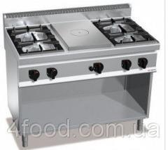 Газовая плита GGM GHGB179H + GB4 + жарочная поверхность с 4-мя горелками 28 кВт + духовой шкаф 4 кВт