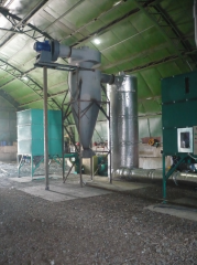 RS drying complex, drying of sawdust, straw, peat,