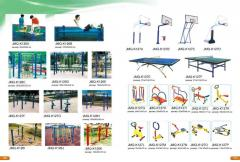 Equipment for open sports grounds