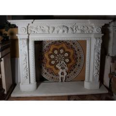 Камин 0313 Мраморный портал в английском стиле из