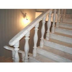 Лестница-82 Мраморная лестница с перилами и