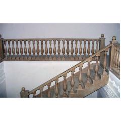 Лестница-84 (перила с балясинами)Гранитная