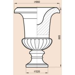 Модель для вазы из натурального камня - мрамор,