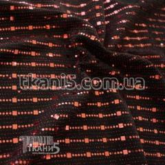 Ткань Трикотаж люрекс с пайеткой (бордовый)