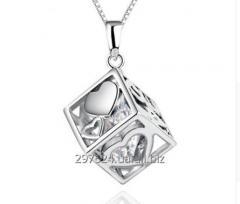 Подвеска куб стерлинговое серебро 925 пробы ( код 1034)