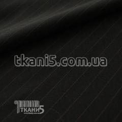 Ткань Мадонна полоска (черно-бежевая)