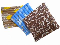 Ортопедические накладки, подушки, сиденья из вельвета с гречневой шелухой