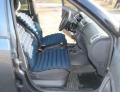 Матрас-накладка в авто 50х115 см, тк.Вельвет