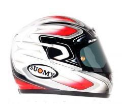 Легкий фирменный шлем CASCO SUOMY APEX COOL RED 2XL