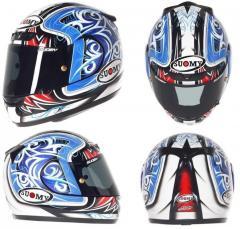 Красивый шлем CASCO SY APEX TORNADO BL/RE XL