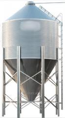 Бункер  кормовой оцинкованный ,11 тонн