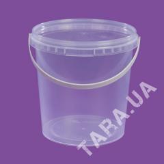 Ведро пластиковое круглое AP1.0 л