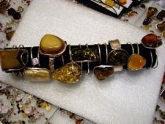 Female ring from amber, Rings female