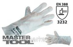MasterTool Перчатки краги замшевые, 14