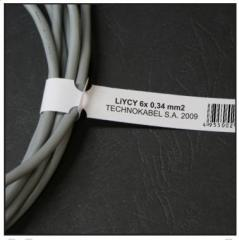 Marking for cable, price. Plastic labels for