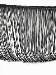 Бахрома на ленте 20 см - цвет черный