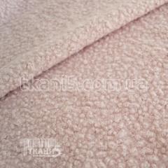Ткань Шерсть букле барашек (пудра)