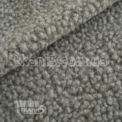 Ткань Шерсть букле барашек (серый-меланж)