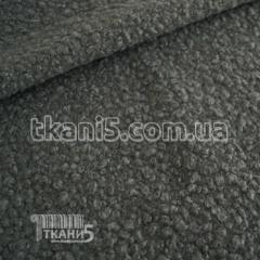Ткань Шерсть букле барашек (темно-серый)