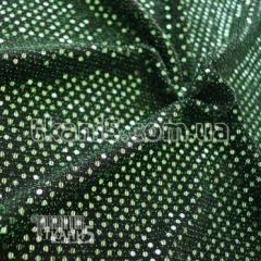 Ткань Трикотаж люрекс с пайеткой (изумруд)