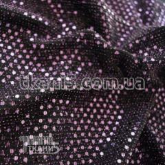 Ткань Трикотаж люрекс с пайеткой (фиолетовый)
