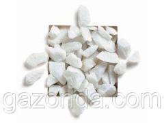 Мраморная крошка декоративная (щебень) белая Каррара 12-16 мм