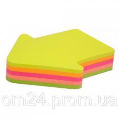 Бумага для заметок с клейким слоем (45х50), 80л, фигурные, НЕОН, E20951